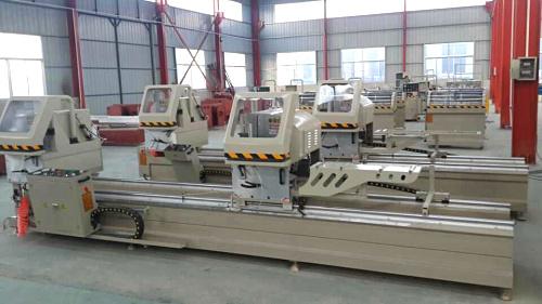 断桥铝门窗设备—LJZ2-CNC-500×4200铝型材双角数控精密切割锯
